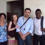 À direita na foto está o irmão Filipe Adriano, um dos nossos parceiros na contextualização do Estudo Cronológico.
